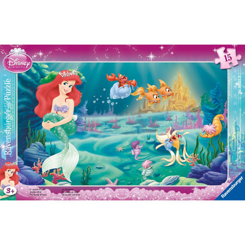 Puzzle Printesa Ariel 15 piese RAVENSBURGER Puzzle Copii