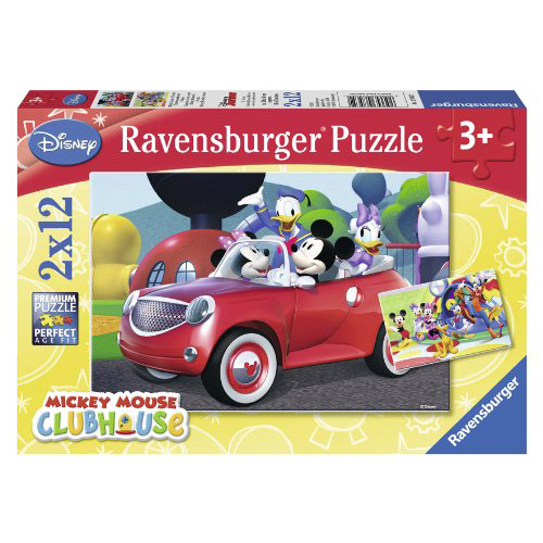 Puzzle Minnie Mickey si prietenii 2x12 piese RAVENSBURGER Puzzle Copii