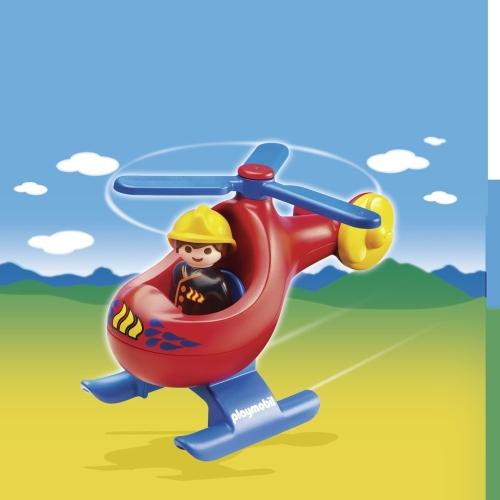 Elicopterul pompierilor PLAYMOBIL 1.2.3
