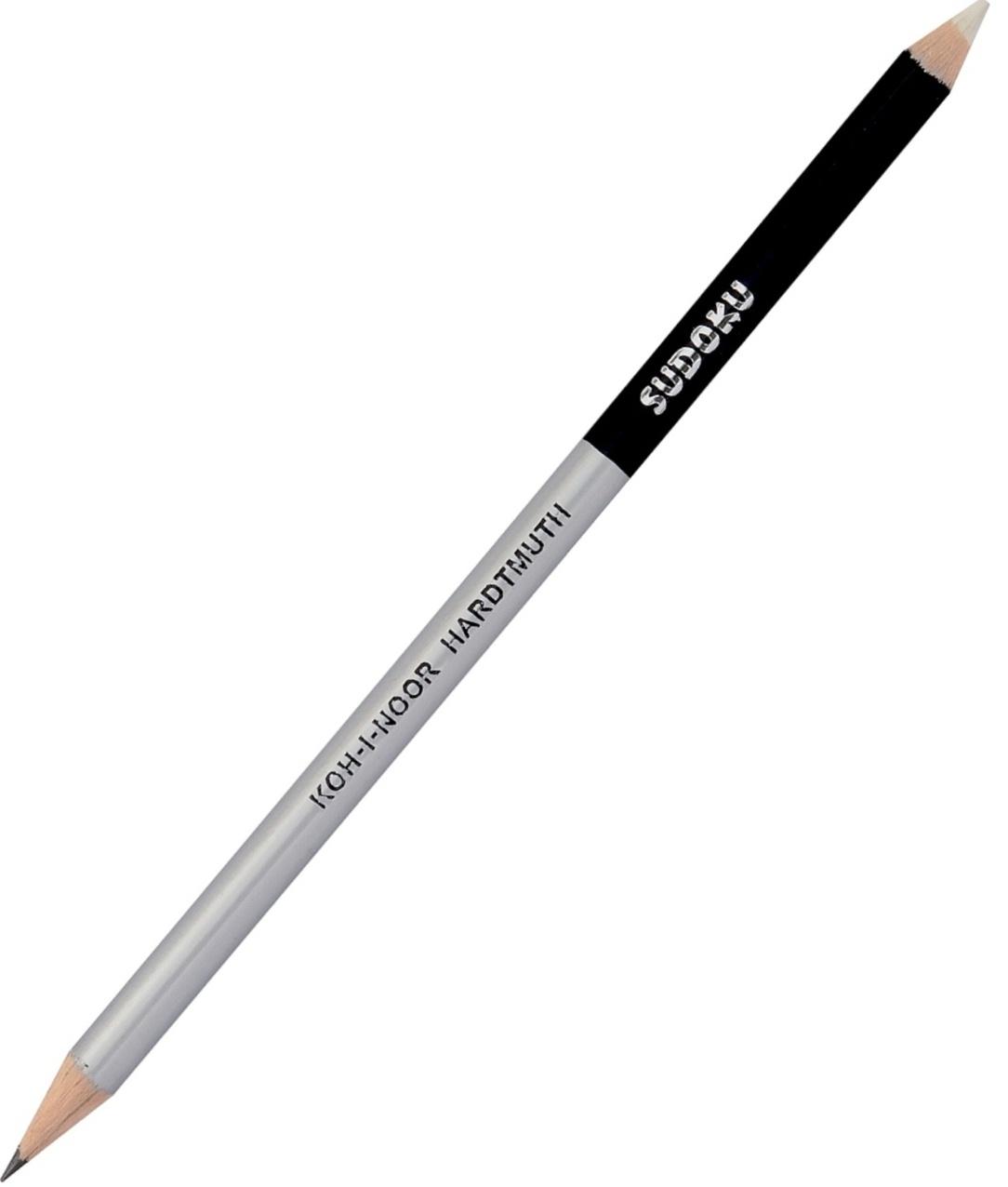 Creion cu mina grafit + radiera 17.5cm cu 2 capete KOH-I-NOOR Sudoku