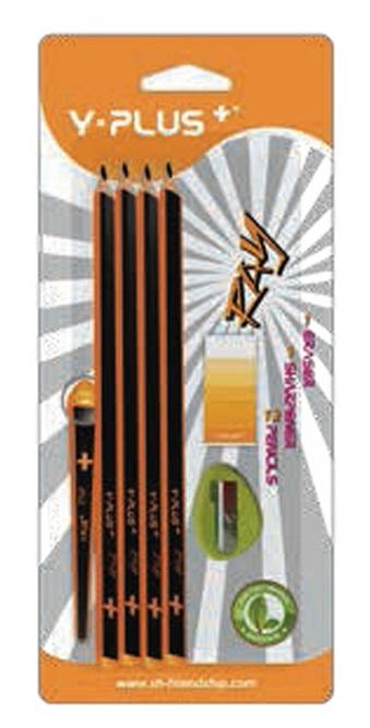 Creioane cu mina grafit HB radiera ascutitoare 12 buc./set PIGNA Ray Y-Plus+