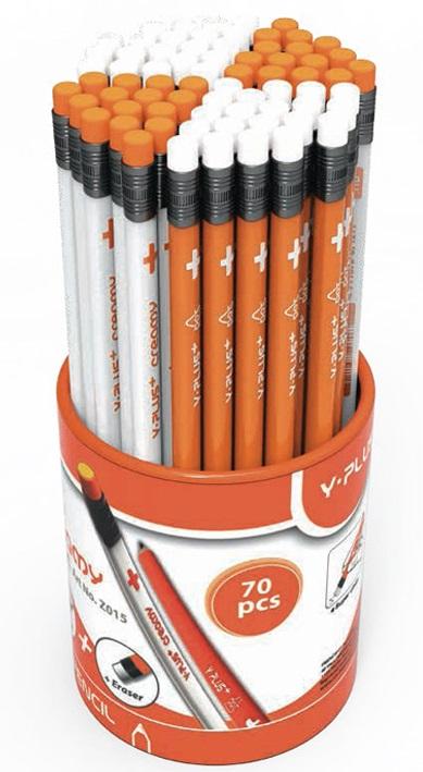 Creioane cu mina grafit HB cu radiera PIGNA Dot Y-Plus+
