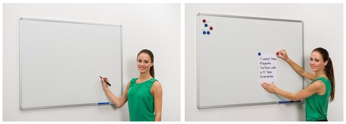 Descriere Tabla magnetica - whiteboard, rama din aluminiu, 150 x 120cm, SMART