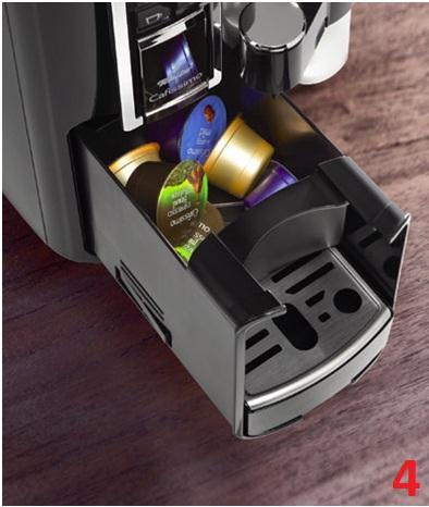 Descriere Aparat de cafea, 1.0L, negru, 15 bar, Espressor Tchibo Cafissimo Latte