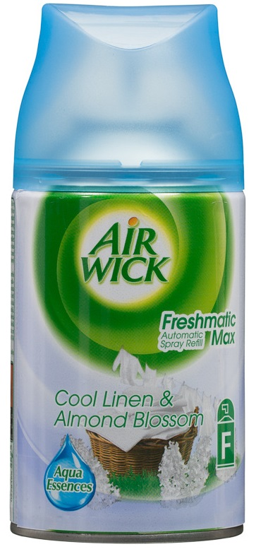 Descriere Odorizant de camera AIR WICK Freshmatic Max + rezerva Liliac Alb si Prospetimea Asternuturilor 250ml
