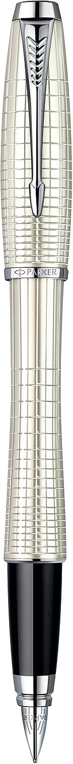 Descriere Stilou, PARKER Urban Premium Pearl Metal Chiselled CT