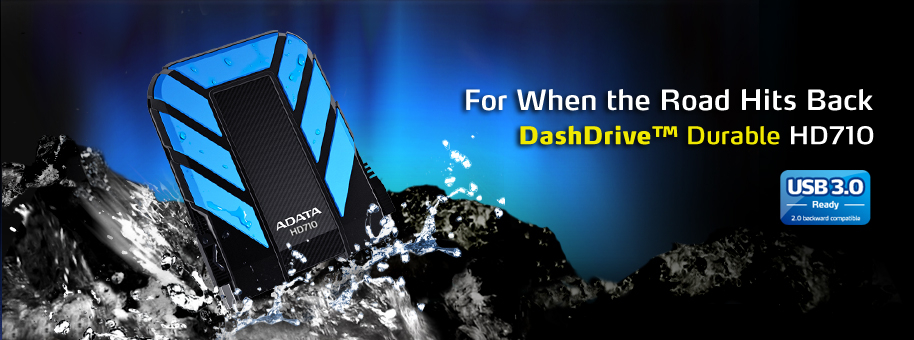 Descriere HDD extern ADATA DashDrive Durable HD710 1TB 2.5 inch USB 3.0 blue