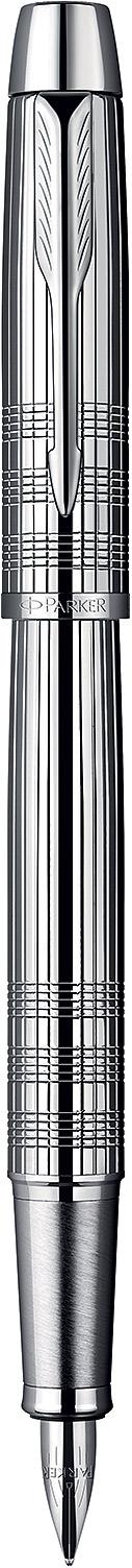 Descriere Stilou, PARKER IM Premium Shiny Chrome Chiselled CT