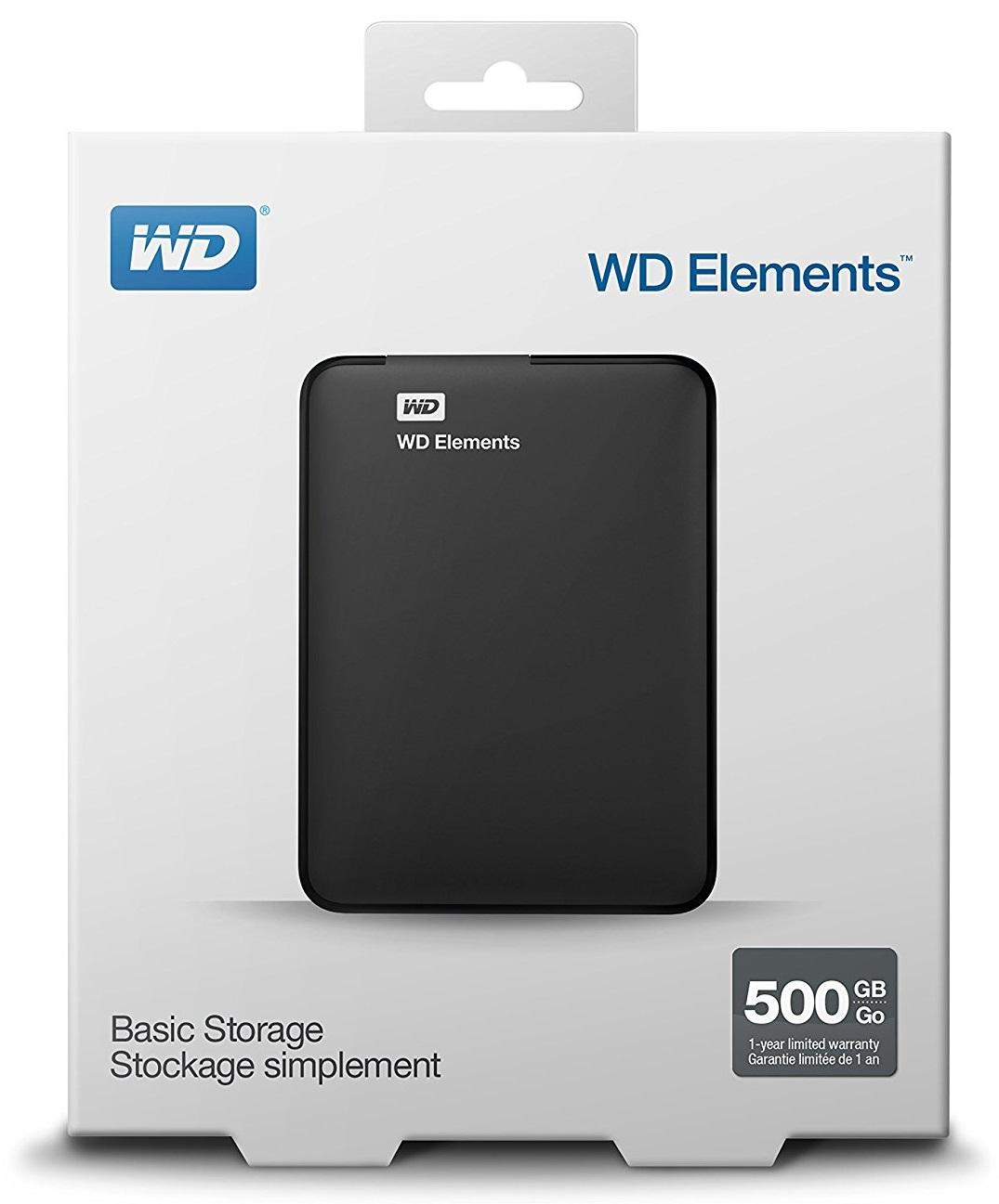 Descriere HDD Extern WD Elements Portable, 500GB, 2.5, USB 3.0, Black