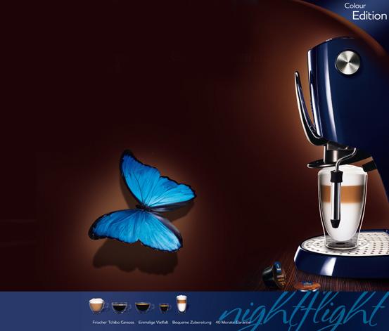 Descriere Aparat de cafea, 1.5L, albastru, 15 bar, Espressor TCHIBO Cafissimo Classic Nightflight Limited Edition
