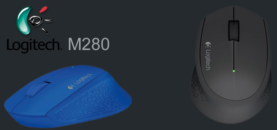 Descriere Mouse Wireless LOGITECH M280, 1000 dpi, negru