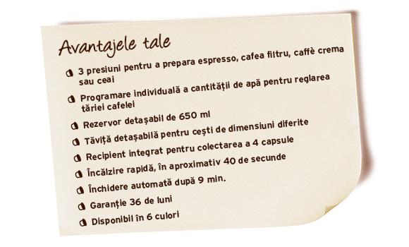 Descriere Aparat de cafea, 650ml, TCHIBO Cafissimo MINI Flashy Lime