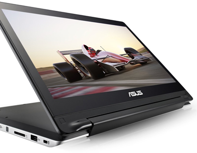 "Descriere Laptop 2-in-1 ASUS Transformer Book Flip TP300LJ, Intel Core i7-5500U, 13.3"" FHD Touch, 8GB, 128GB SSD, GeForce 920M 2GB, Win 10"