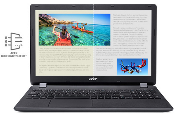 "Descriere Laptop ACER Aspire ES1-531-C8FE, 15.6"" HD, Procesor Intel® Celeron® N3050 pana la 2.16GHz, 4GB, 500GB, Linux"