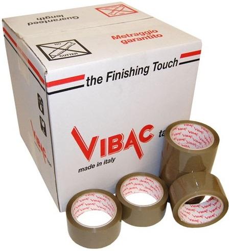 Descriere Banda adeziva 48mm x 66m (adeziv pe baza de solvent) maro, VIBAC