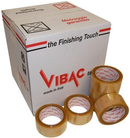 Descriere Banda adeziva, acrilic, 48mm x 60m, transparenta, VIBAC Low Noise