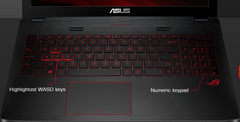 Descriere Laptop ASUS ROG GL552VW, Intel Core i7-6700HQ, 15.6'' FHD, 8GB, 1TB, GeForce GTX 960M 4GB, FreeDos, Black-Grey