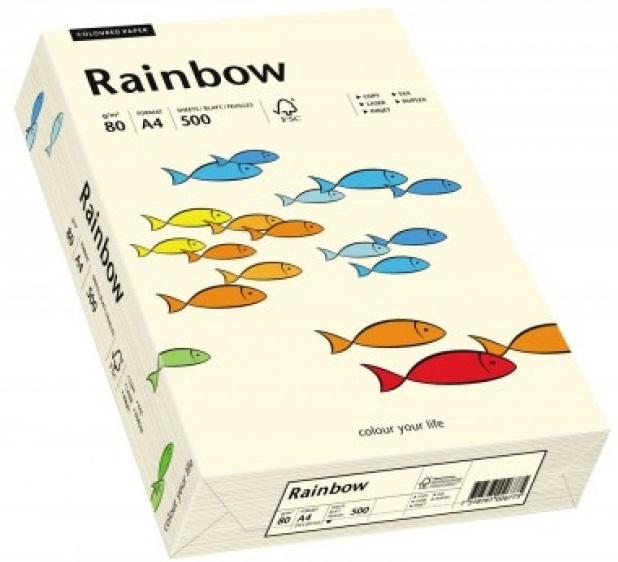Descriere Hartie colorata, A4, 80 g/mp, 500 coli/top, crem (creme), RAINBOW