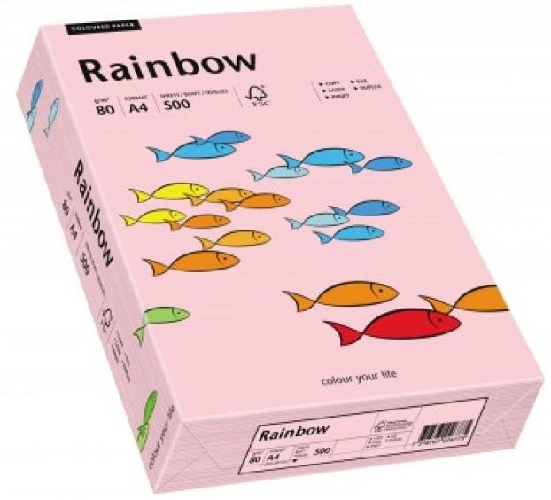 Descriere Hartie colorata, A4, 80 g/mp, 500 coli/top, roz deschis (light pink), RAINBOW