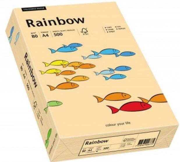 Descriere Hartie colorata, A4, 80 g/mp, 500 coli/top, roz-portocaliu (salmon), RAINBOW
