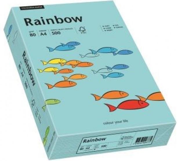 Descriere Hartie colorata, A4, 80 g/mp, 500 coli/top, albastru mediu (medium blue), RAINBOW