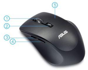 Descriere Mouse ASUS WT425, Charcoal Black