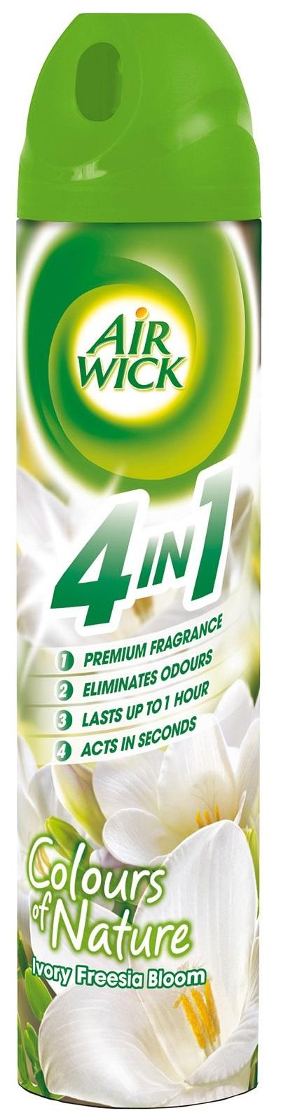 Descriere Odorizant spray AIR WICK Aerosol Frezie si Iasomie, 240ml