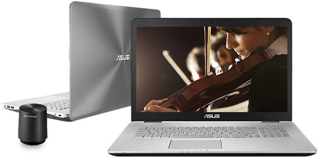 "Descriere Laptop ASUS N751JK, Intel Core i7-4710HQ, 17.3"" FHD IPS, 8GB, 1TB, GeForce GTX 850M 4GB, Win 8.1 Pro, Grey"
