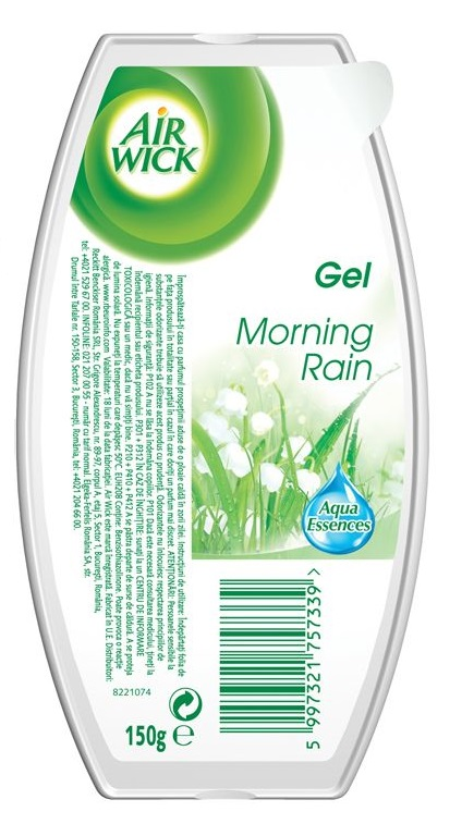Descriere Odorizant de camera AIR WICK Gel, Morning Rain, 150g