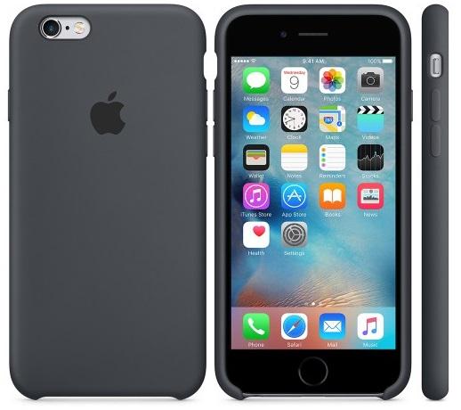Descriere Husa de protectie APPLE pentru iPhone 6s, Silicon, Charcoal Gray