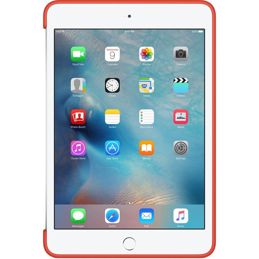 Descriere Husa APPLE Silicone Case pentru iPad Mini 4, Orange