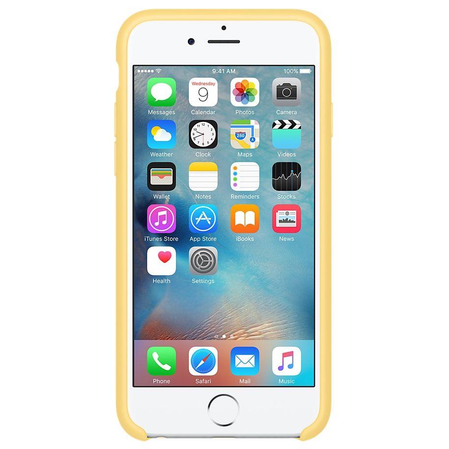 Descriere Husa de protectie APPLE pentru iPhone 6s Plus, Silicon, Yellow