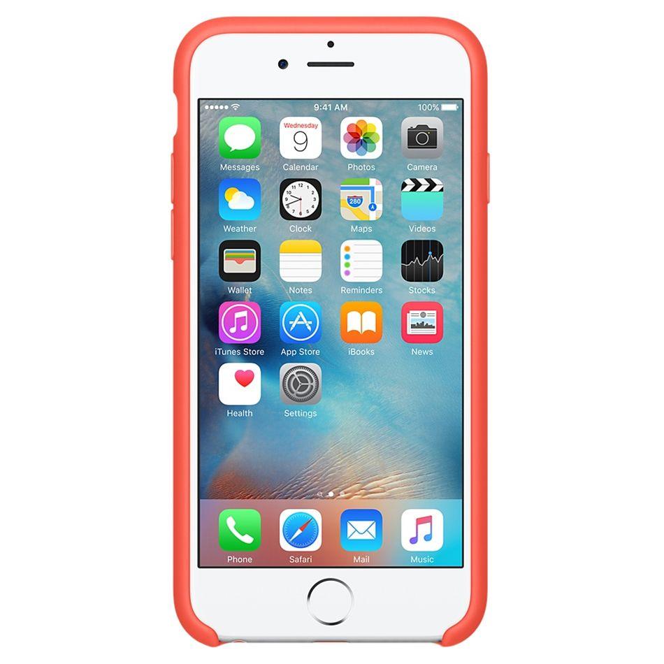 Descriere Husa de protectie APPLE pentru iPhone 6s Plus, Silicon, Apricot