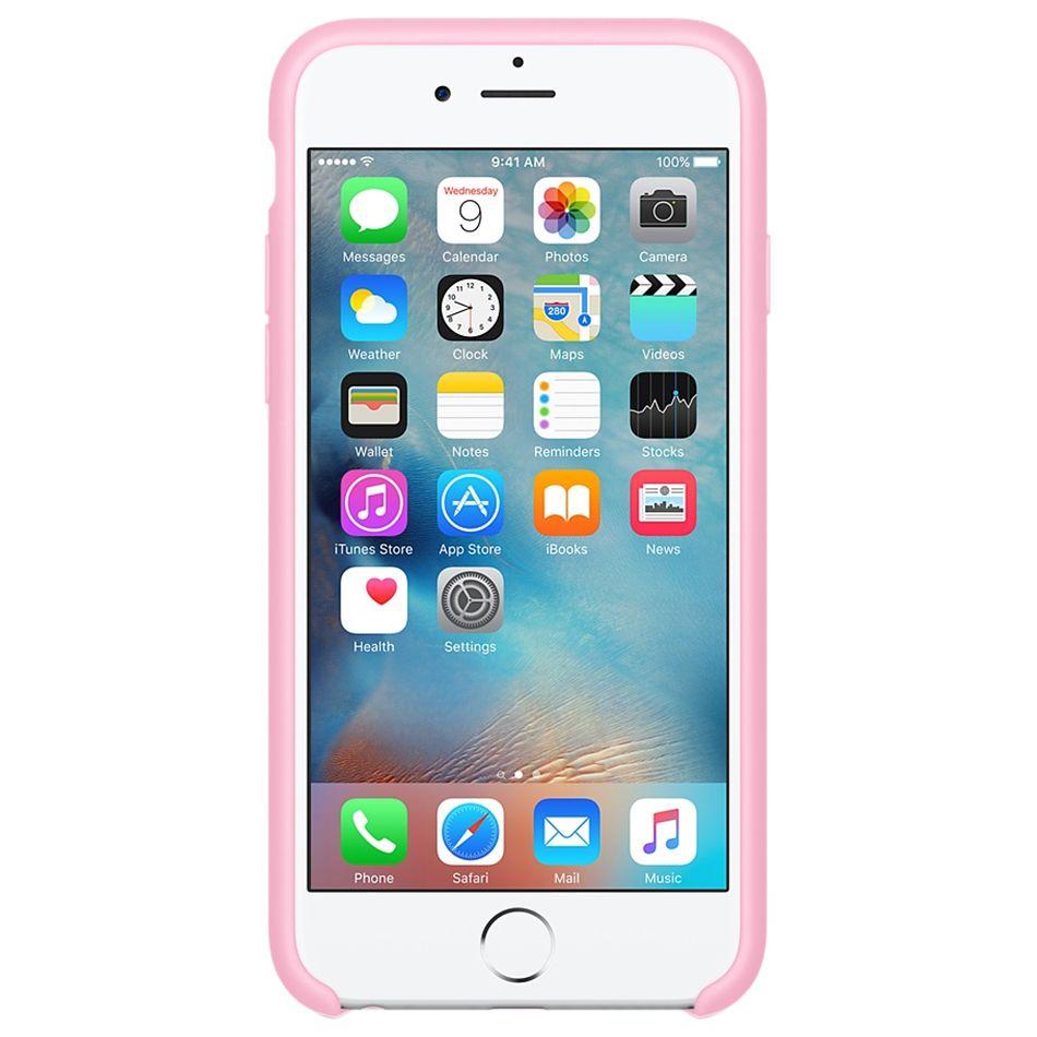 Descriere Husa de protectie APPLE pentru iPhone 6s, Silicon, Light Pink