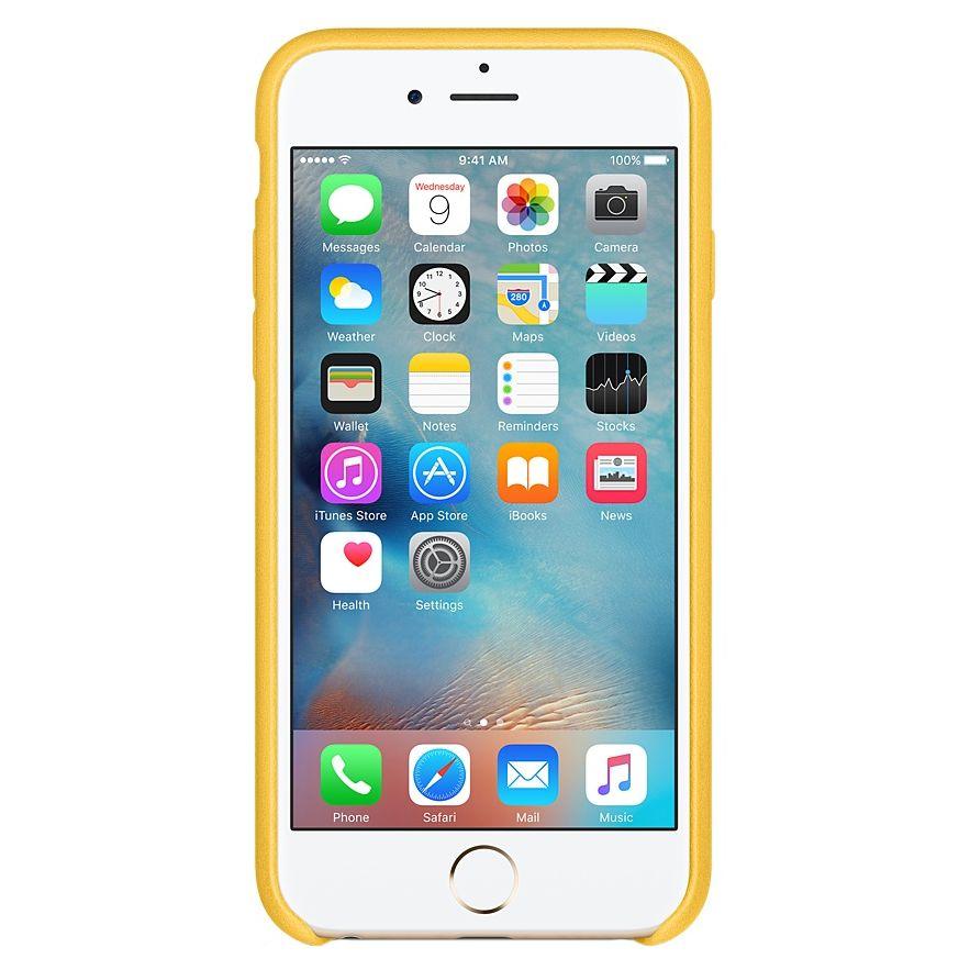 Descriere Husa de protectie APPLE pentru iPhone 6s, Piele, Marigold