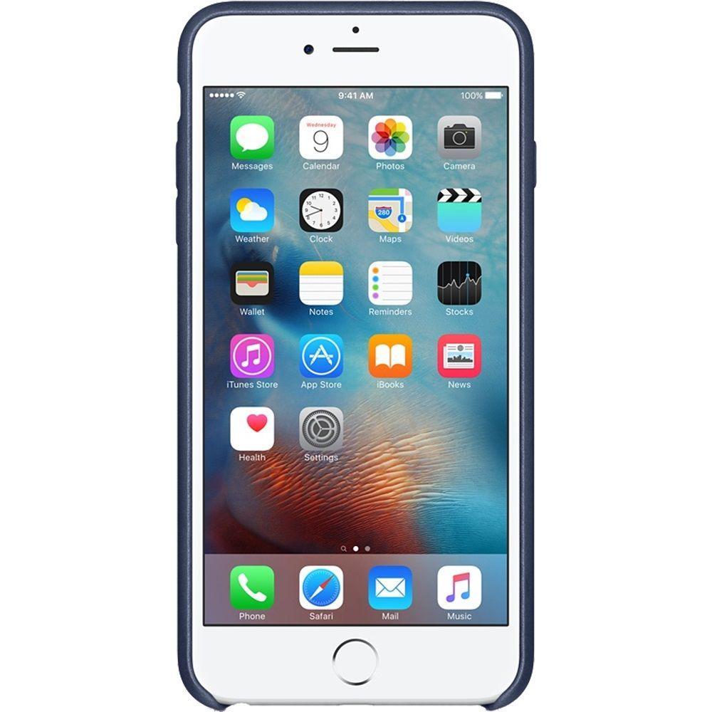 Descriere Husa de protectie APPLE pentru iPhone 6s Plus, Piele, Midnight Blue