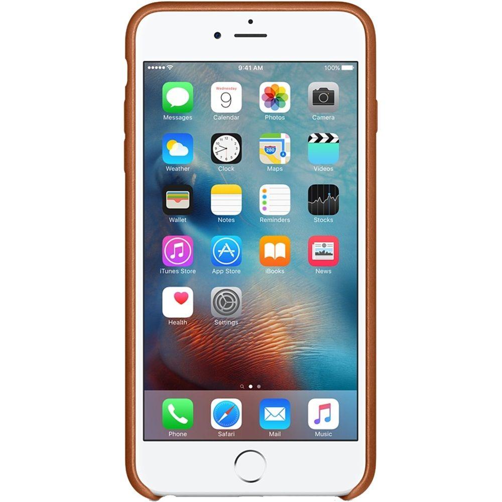 Descriere Husa de protectie APPLE pentru iPhone 6s Plus, Piele, Saddle Brown