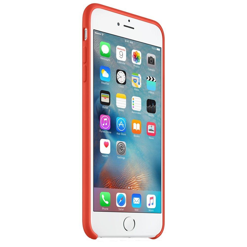 Descriere Husa de protectie APPLE pentru iPhone 6s Plus, Silicon, Orange