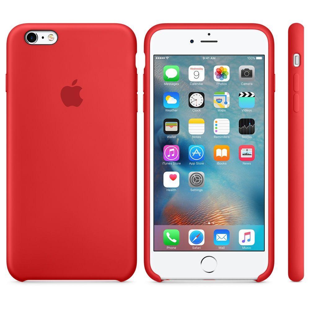 Descriere Husa de protectie APPLE pentru iPhone 6s Plus, Silicon, Red