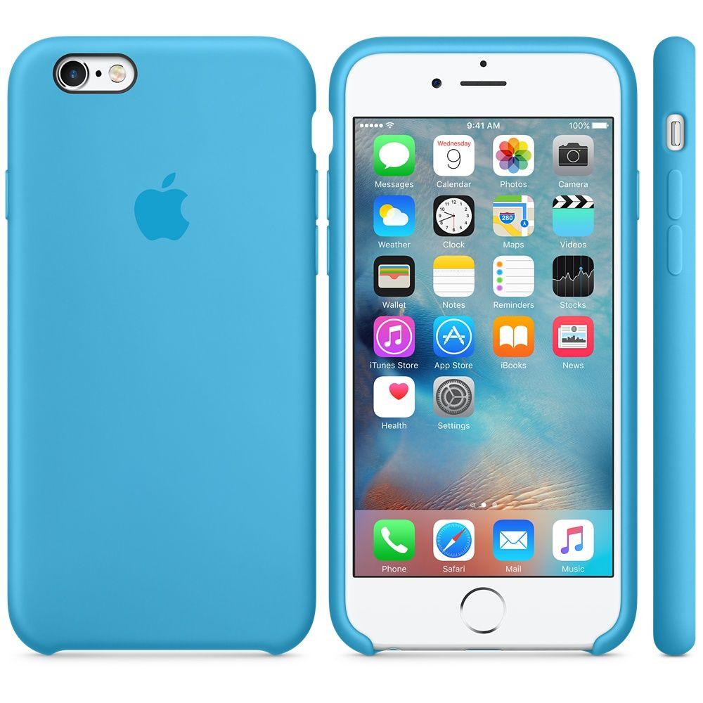 Descriere Husa de protectie APPLE pentru iPhone 6s, Silicon, Blue