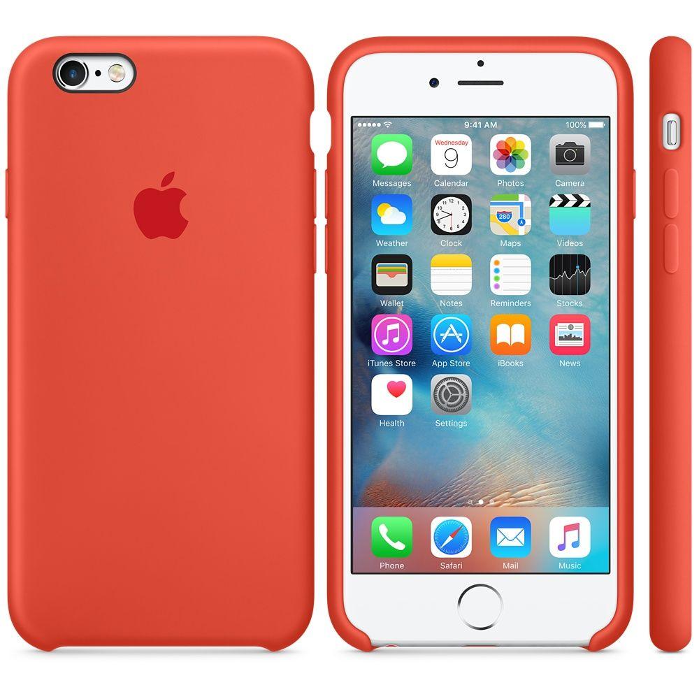 Descriere Husa de protectie APPLE pentru iPhone 6s, Silicon, Orange