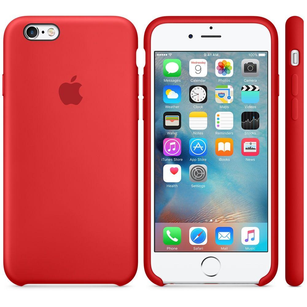 Descriere Husa de protectie APPLE pentru iPhone 6s, Silicon, Red