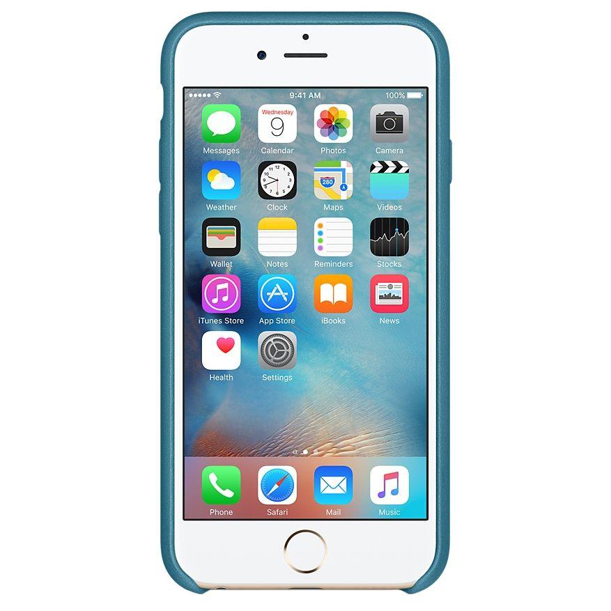 Descriere Husa de protectie APPLE pentru iPhone 6s Plus, Piele, Marine Blue