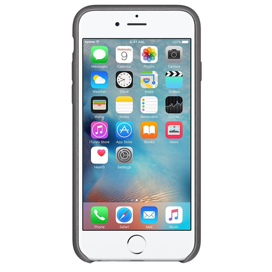 Descriere Husa de protectie APPLE pentru iPhone 6s Plus, Piele, Storm Gray