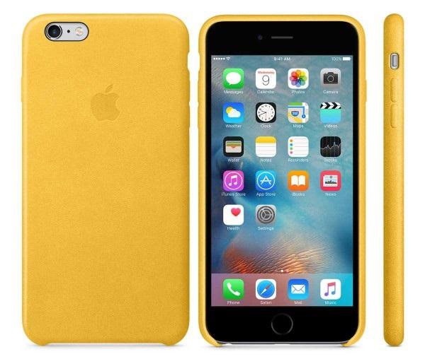 Descriere Husa de protectie APPLE pentru iPhone 6s Plus, Piele, Marigold