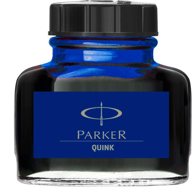 Descriere Cerneala, 57ml, albastru permanent, PARKER Quink