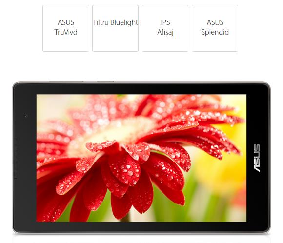"""Descriere Tableta ASUS ZenPad C 7.0 Z170MG-1A020A, Wi-Fi + 3G, 7.0"""", Quad Core MT8382V, 16GB, 1GB, Android Lollipop 5.0, negru"""