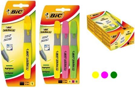 Descriere Textmarker, roz, 1.7-5.1mm, BIC Brite Liner XL