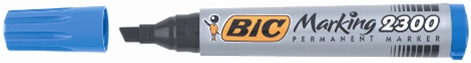 Descriere Marker permanent, 3.1-5.3mm, rosu, BIC 2300