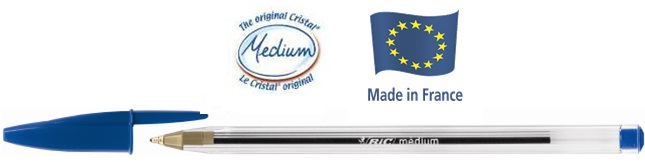 Descriere Pix fara mecanism, 1.0mm, albastru, BIC Cristal